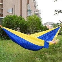 Спальная парашют гамак выживание качели мебель нейлон кровать сад двойной отдых