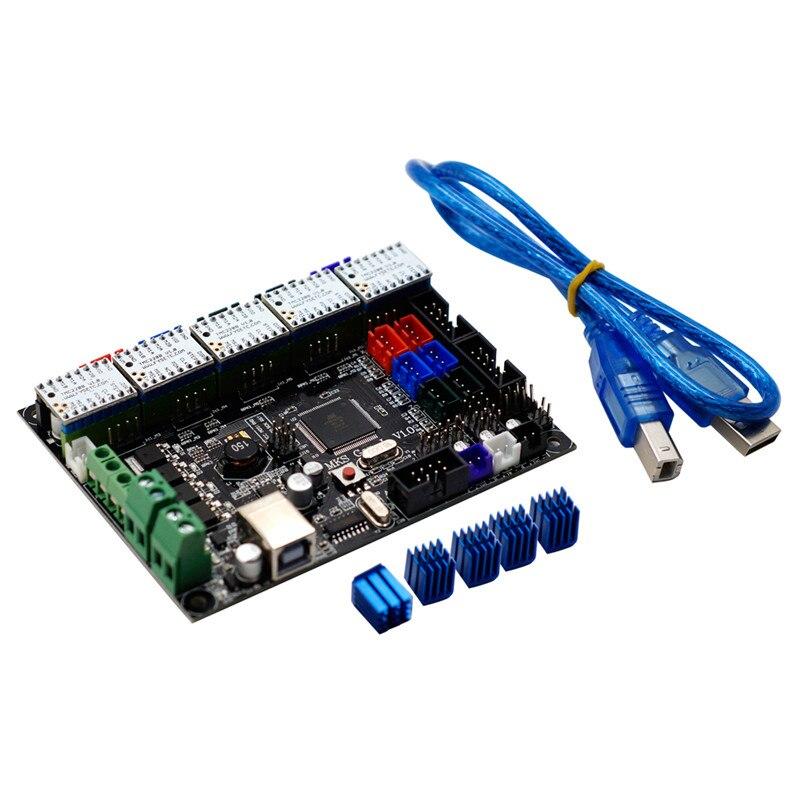 New V1.0 Integrated Controller Mainboard + 5pcs TMC2208 V1.0 Stepper Motor Driver Compatible Ramps1.4/Mega2560 R3 For 3D Printer цена