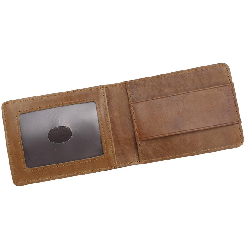 Genuine Leather Men Money Clamp Wallet GUBINTU Slim Perse Bank Credit Card Case Minimalist Men card holder porte carte with RFID