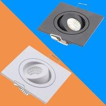 2шт светодиодный светильник потолочный Точечный светильник COB 3 Вт белый/черный квадратный Встраиваемый светодиодный точечный светильник украшение для гостиной кухни