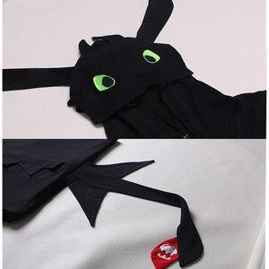 Image 3 - アニメあなたのドラゴン 3 コスプレ衣装歯のないパジャマジャンプスーツ夏毎日カジュアル綿スーツ