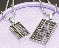 Free Shipping 316l Stainless Steel Chinese Abacus Pendant Necklace Fashion Jewelry Wholesale 5 Pairs