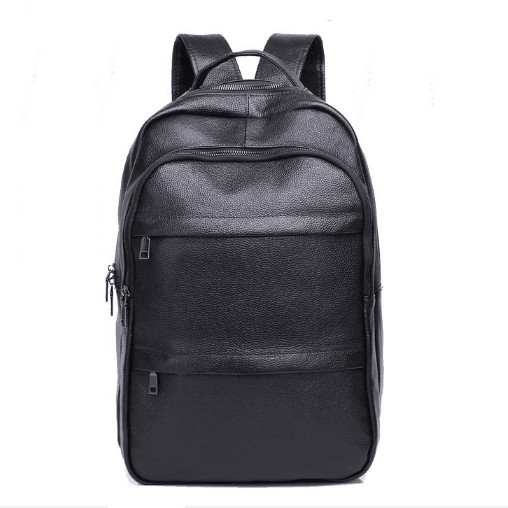 Genuine Leather Cow Skin Leisure Large Men Backpack High Quality