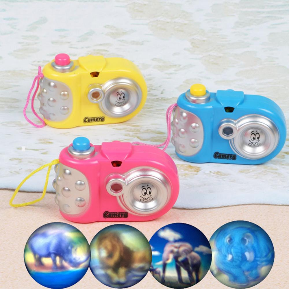 Fun Cartoon Light Projection Camera Toy Baby Kids Cognition Educational Toys