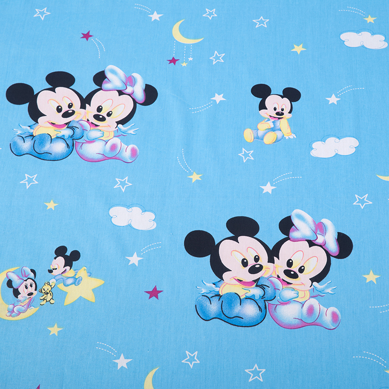 Love mouse cartoon printed printed 100 cotton fabric for Sewing material for sale