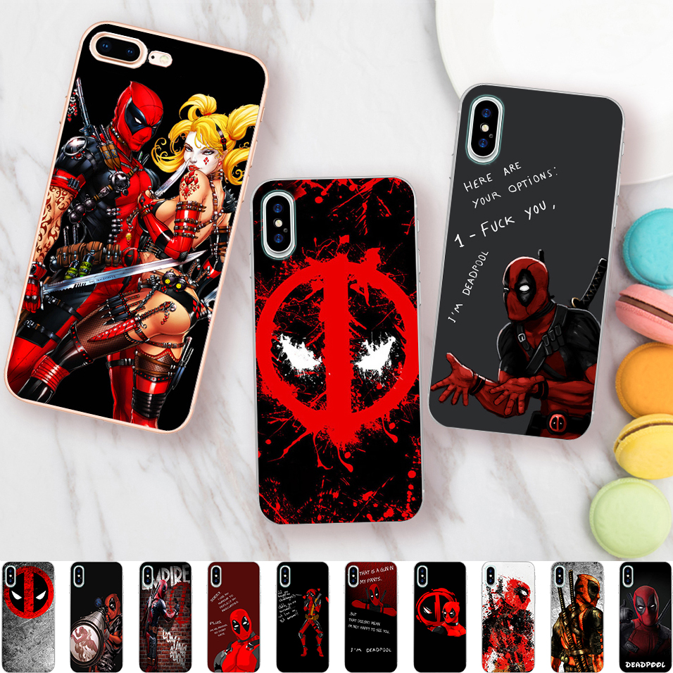 US $1.99 35% OFF|Funny Deadpool Quotes Case for iPhone X 5 5S XR XS Max 6  6S 7 8 Plus Cover Soft Silicone Phone Fundas Capinha Coque-in Half-wrapped  ...