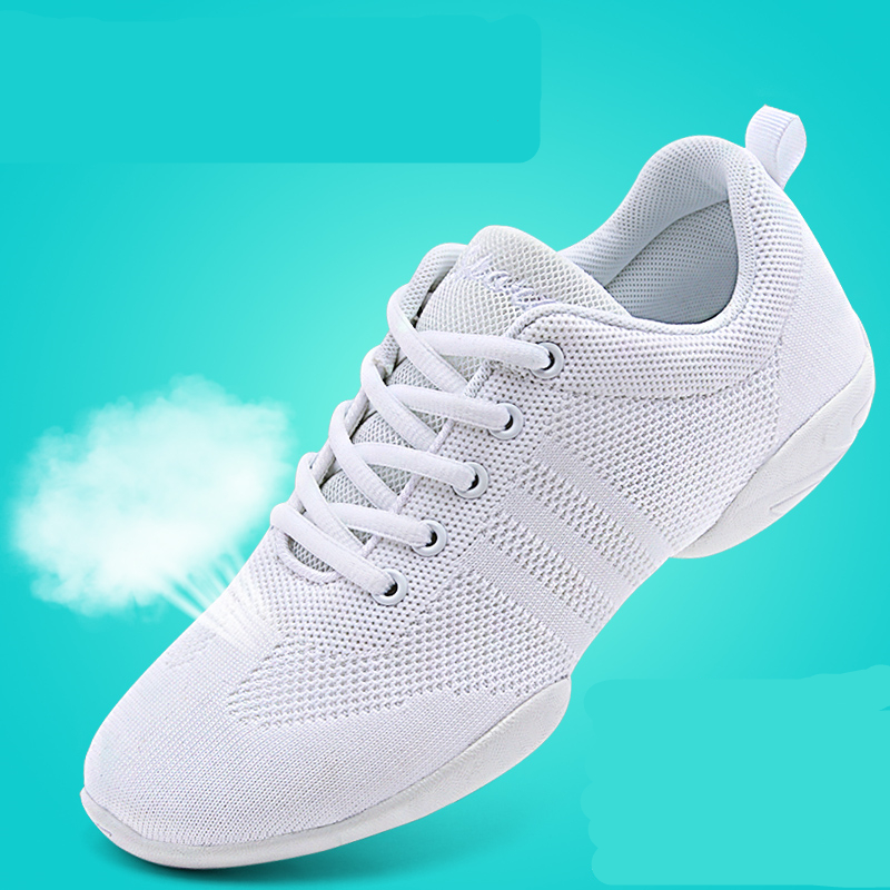 Competitive Aerobics Shoes Woman Soft Bottom Cheerleading Sneakers Shoes Training Square Dance Shoes Women's Fitness Shoes