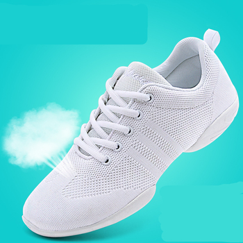 Competitive Aerobics Shoes Woman Soft Bottom Cheerleading Sneakers Shoes Training Square Dance Shoes Women's Fitness Shoes new style competitive aerobics shoes skills cheerleading shoes group gym shoes competition shoes national fitness shoes