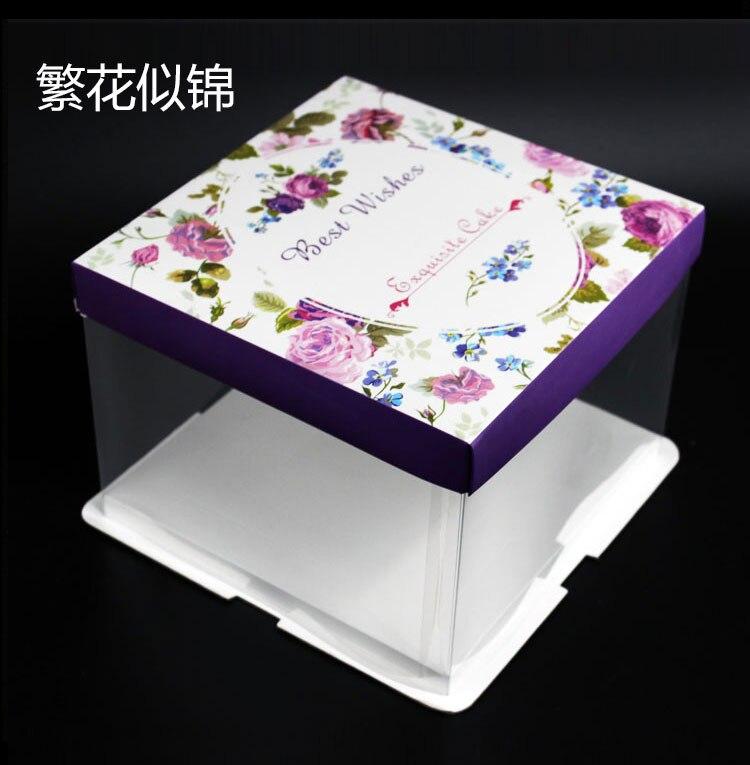 5 pièces 6-8-10 pouces anniversaire fromage gâteau boîte cadeau/snack/Portable boîtes avec filets