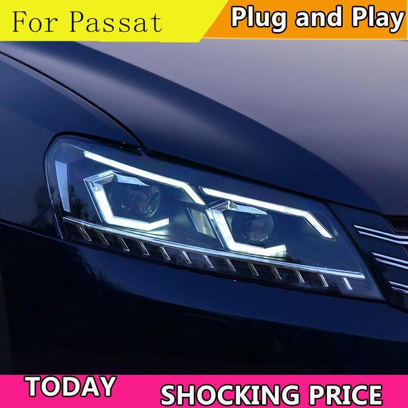 Car Styling For VW Passat B7 US Verson 2012-2016 Headlight For Passat B7 Headlight DRL D2H Dynamic Turn Signal Hid Bi Xenon Beam