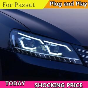 Image 1 - Car Styling for VW Passat B7 US Verson 2012 2016 Headlight For Passat B7 Headlight DRL D2H dynamic turn signal Hid Bi Xenon Beam