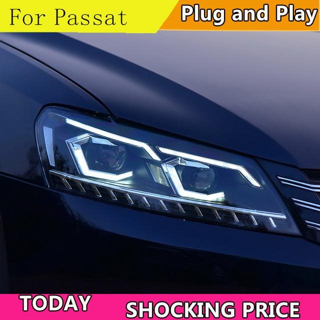 Car Styling for VW Passat B7 US Verson 2012 2016 Headlight For Passat B7 Headlight DRL D2H dynamic turn signal Hid Bi Xenon Beam