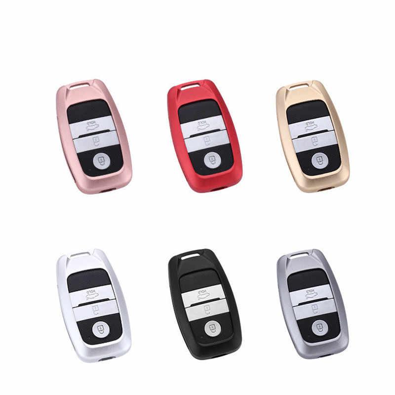 غطاء مفتاح من سبائك الألومنيوم للسيارة ، حامل غلاف لكيا سورينتو KX5 KX3 K3 K5 سبورتاج نيرو أوبتيما 3/4 زر مفتاح فوب ذكي