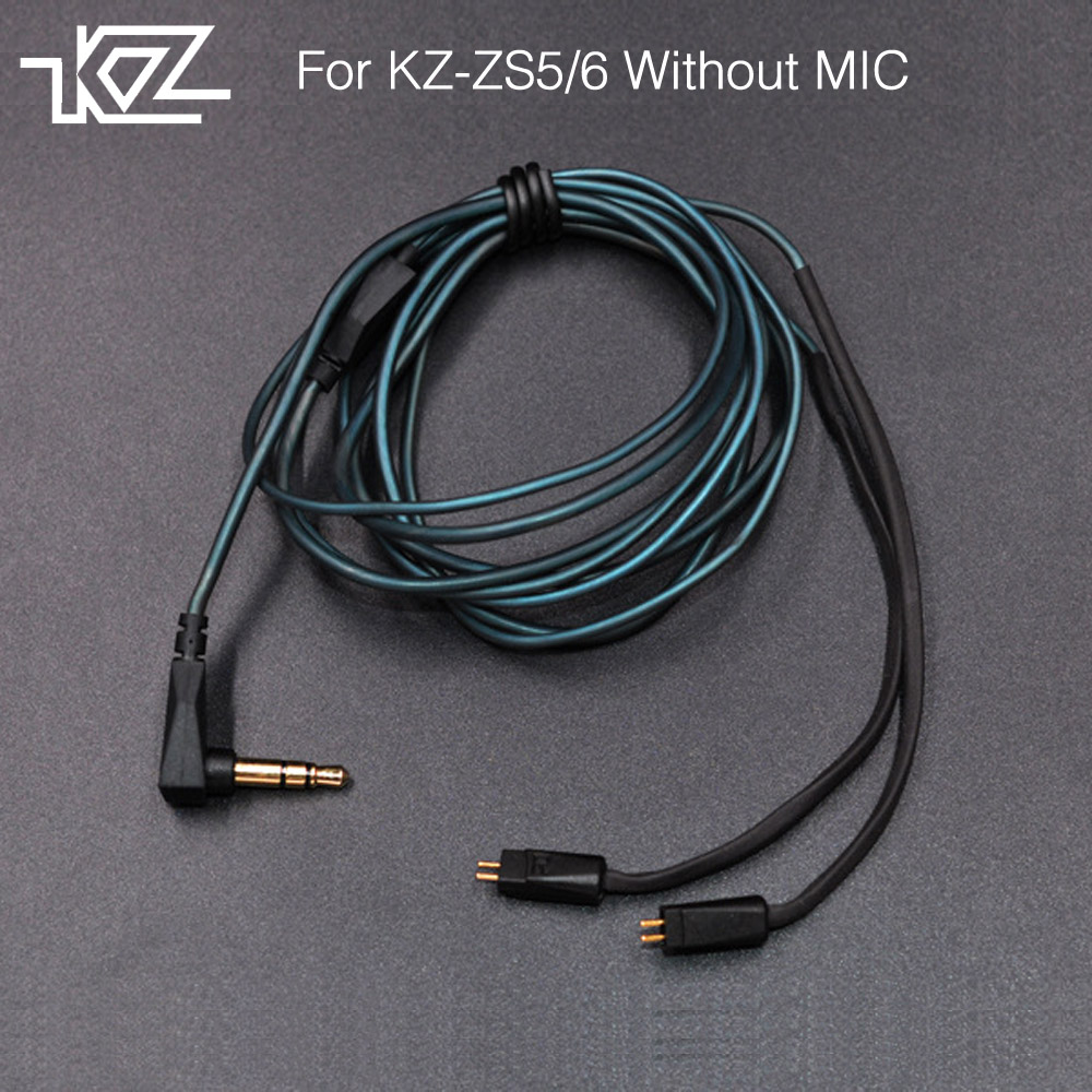 Newest KZ ZS3/ZS5/ZS6 Dedicated Cable 0.75mm 2-Pin Upgraded Cable Replace Cable Upgrade Cable Ues For KZ ZS3/ZS5/ZS6 Without MIC