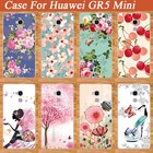 For Huawei GR5 Mini Case DIY Painting Beautiful Flowers 10 Patterns Cases Soft Back Cover Case For Huawei gr5 mini