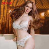 1/6 Scale Female White Lace Underwear Set for PH UD JO Action Figures Accessory