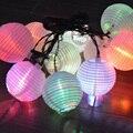 10 LED Клетка Для Птиц Солнечная Китайский Висит Фонарь Свет Шнура Открытый Сад Двор Свет Лампы Свадьба Занавес Украшения