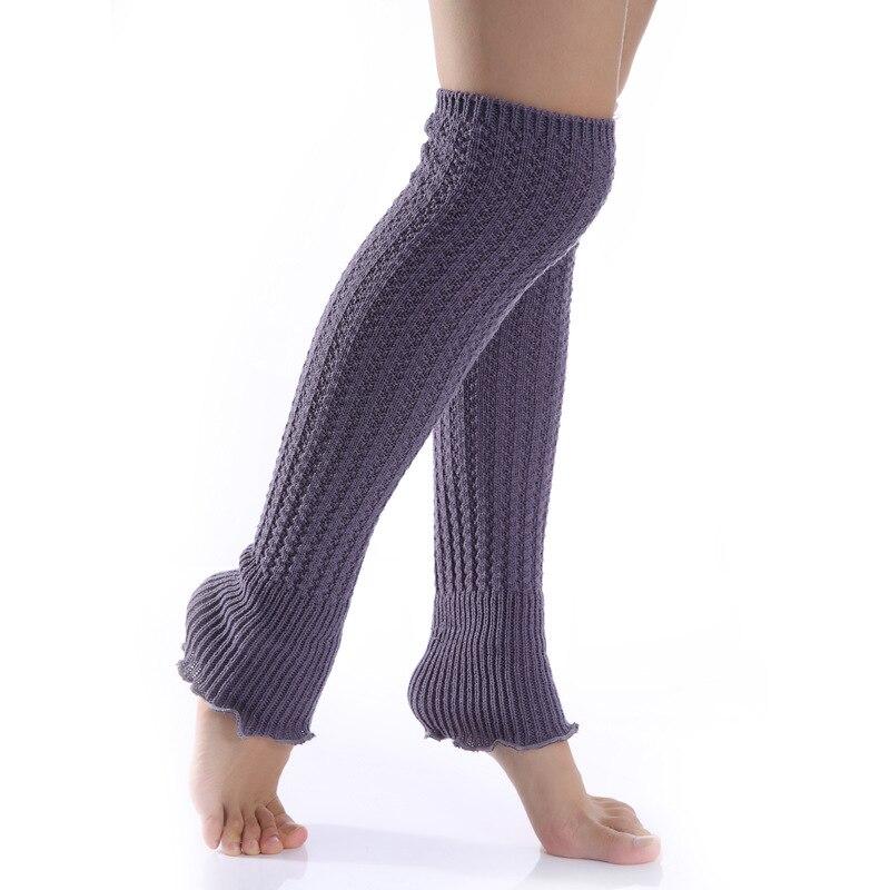 Fashion New Women's Knitted Wool Ruffled Fashion Warm Knee Pads Leg Warmers Socks
