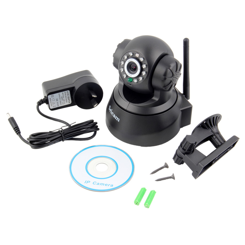 купить Sricam Wireless IP Webcam Camera Night Vision 11 LED WIFI Cam M-JPEG Video with AU PLUG WiFi Pan Tilt Security Promotion Hot l недорого