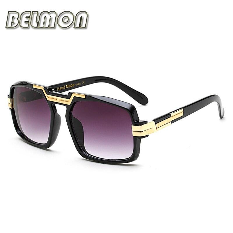 Moda gafas de sol mujer hombres de lujo marca diseñador gafas de sol Bige marco para las señoras UV400 mujer hombre Oversized Oculos RS071