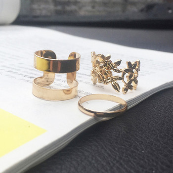 Women's Minimalistic Phalanx Rings 3 pcs Set Jewelry Rings Women Jewelry Main Stone Color: Royal Blue