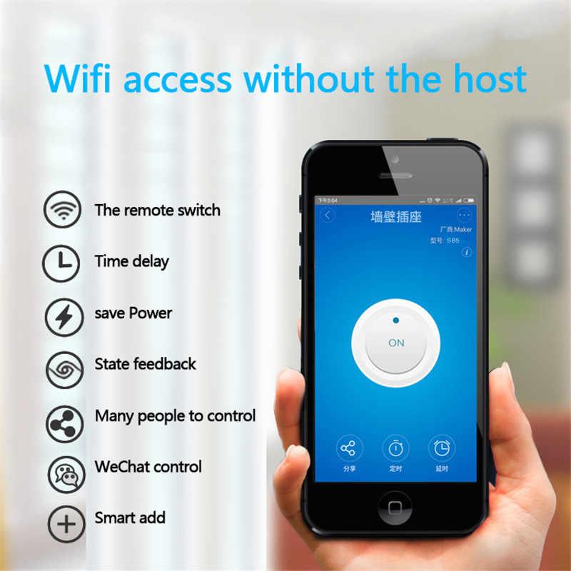 Sonoff bezprzewodowy włącznik Wifi uniwersalny inteligentny moduł automatyki domowej zegar Diy pilot zdalnego sterowania Wifi kurtyny poprzez Ios Android Alexa