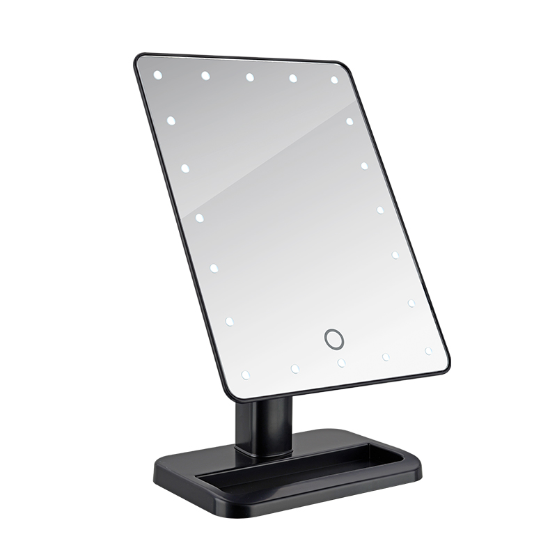 Straightforward Led Touch Screen Makeup Mirror Professional Vanity Mirror With 16 Led Lights Health Beauty Adjustable Countertop Rotating To Be Distributed All Over The World Bathroom Hardware