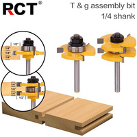 2 Pc6 35mm Shank High Quality Tongue Groove Joint Assembly Router Bit Set 3 4 Stock