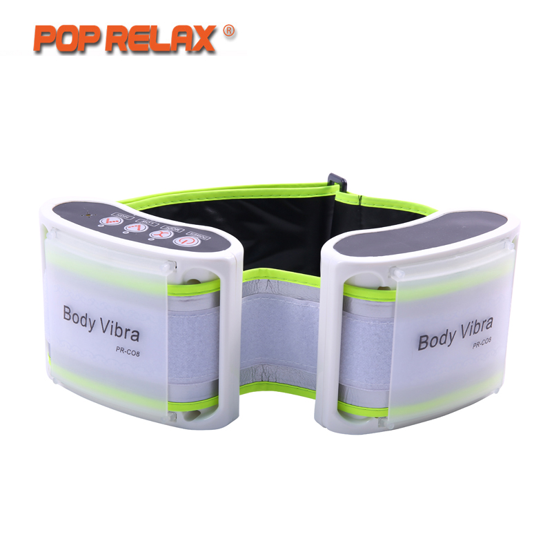 POP RELAX Waist Massage Belt Slimming Vibration Body Relaxant Instrument Vibro Electric Vibrator Health Care Vibrating Massager pop relax electric vibrating massager vibrator red light heating therapy body relax handheld massage hammer device massager