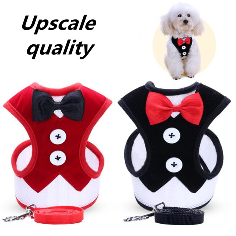 BENMEI Various Safety Walking Puppy Pet Harness Set Training Vest Cat Dog Harness Leashes + Matching Lead Leash