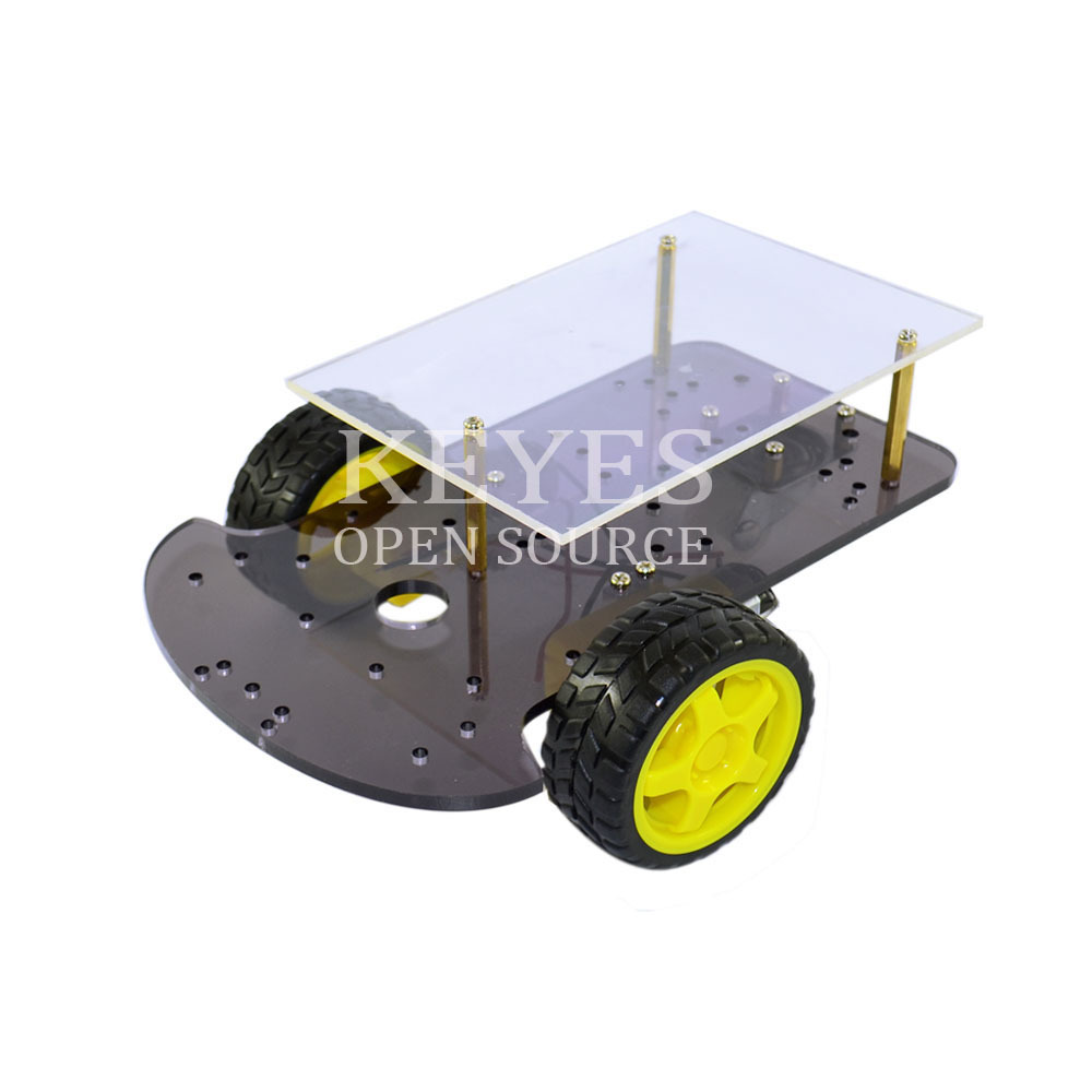 Free shipping ! NEW Two-drive double smart car chassis K-001 Extended Edition