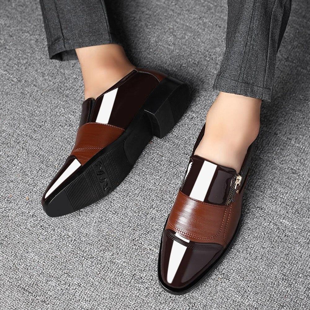 Chaussures Cuir Classique Plus Dec4 Taille 38 Grande Bk Robe Formelle socks 47 Marque Hiver Peluche D'affaires En bw Hommes Gentleman Y5qAw0a