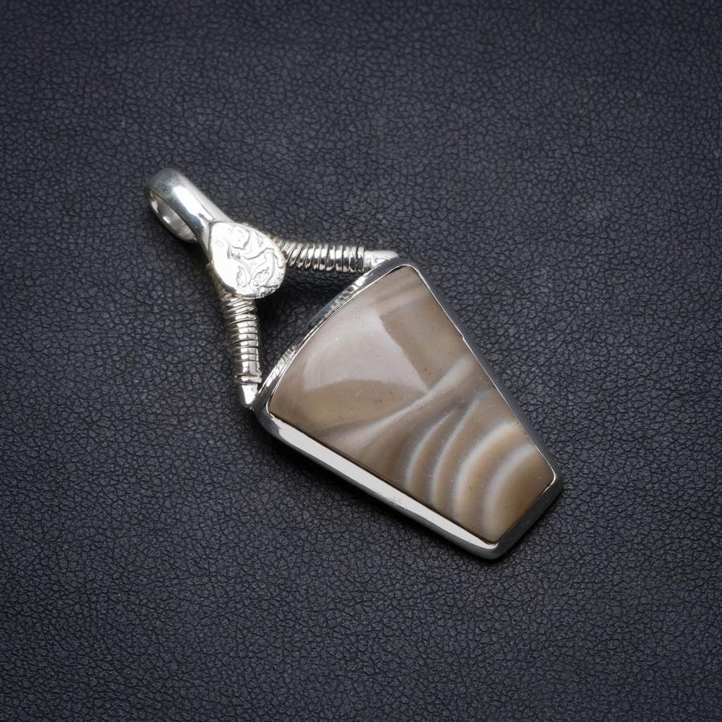 Natural Imperial Jasper Handmade Unique 925 Sterling Silver Pendant 1.75 X0904Natural Imperial Jasper Handmade Unique 925 Sterling Silver Pendant 1.75 X0904