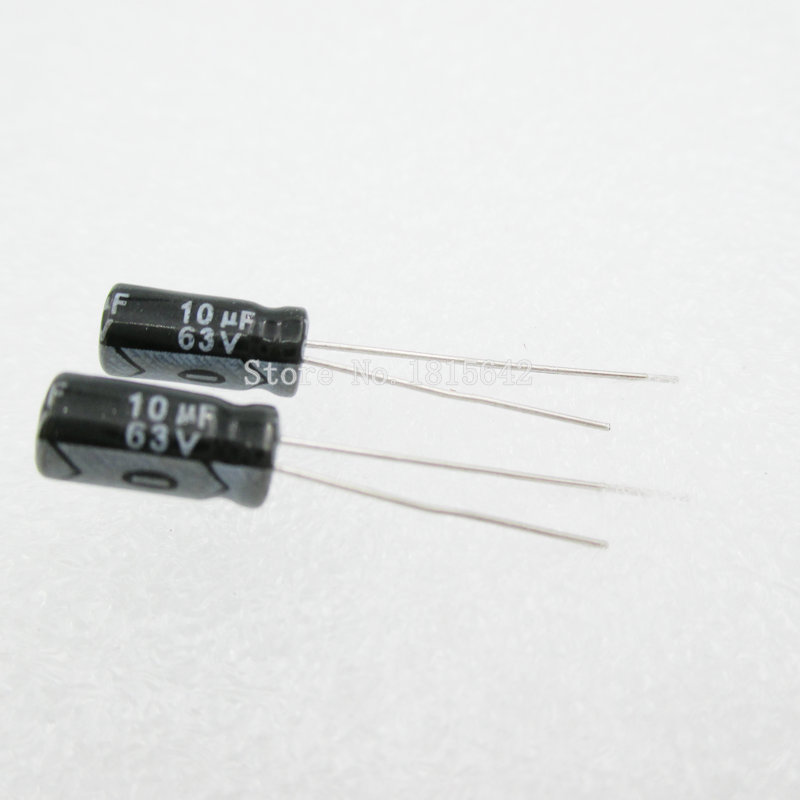 20PCS/LOT 10uF 63V Aluminum Electrolytic Capacitor 5*11 Electrolytic Capacitor 63v 10uf