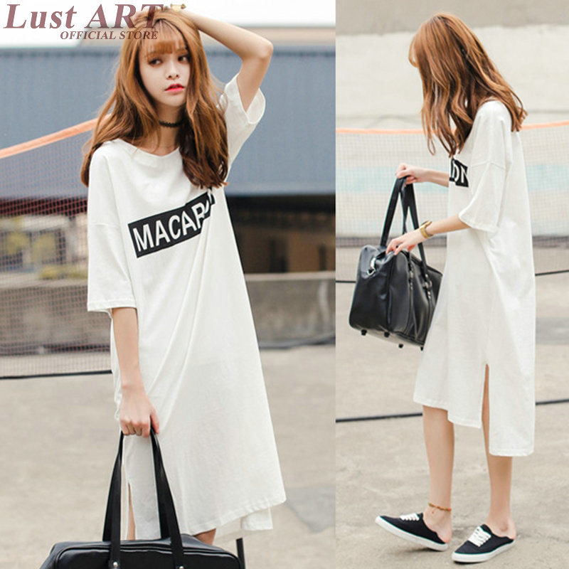 New woman dresses 2016 summer women fashion long shirt dress oversized loose women spring dress 2016