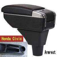 For honda civic ep3 armrest box central Store content box with cup holder ashtray USB ep3 armrests box