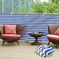 Listrado da tela da privacidade cerca para Pátio Deck Varanda Varanda toldo net 0.75 m X 5 m Azul-branco e cinza-branco