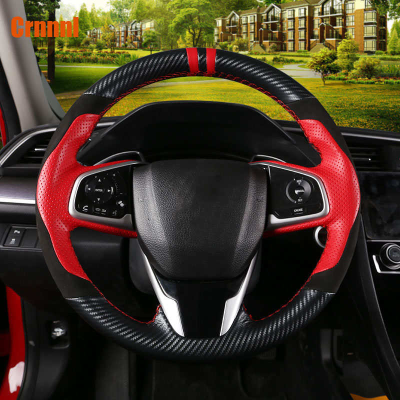 Car dedicated sewing leather hand steering wheel car accessories For Honda Civic 10th gen 2016 2017 2018