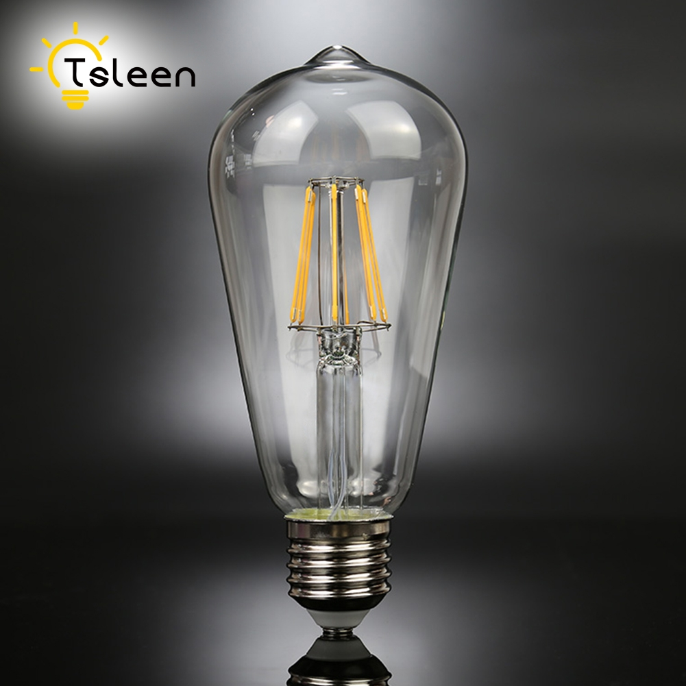 Cheap Ampoule led Dimmable E27 A60 led filament bulb C35 ST64 16W 360 Degree Retro light ...