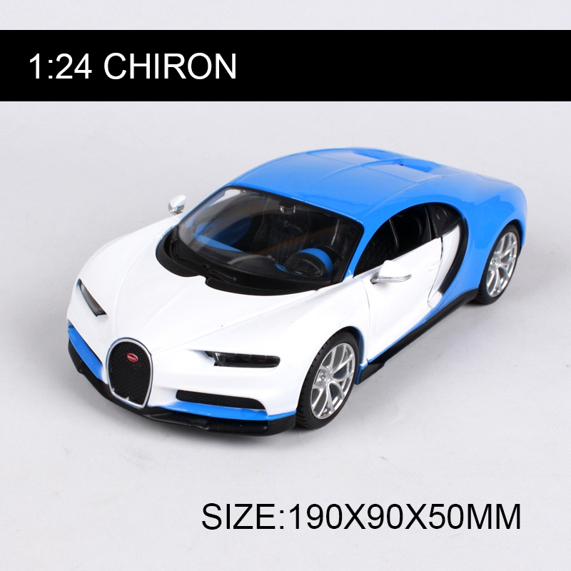 Maisto 1:24 Chiron Diecast Model Car Alloy Model Metal Car Kids Toys Roadster Car simulation model For Gift Collection