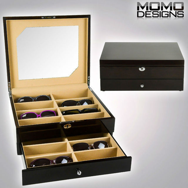 16 Piece Luxury Wooden Sunglasses Storage Box Display, Nature Wood Glasses  Box, High Quality