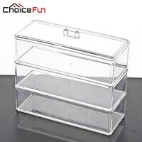 CHOICEFUN Bathroom Acrylic Container Storage Box Makeup Organizer Plastic Box Cajas Organizadoras 100 Guaranty SF 1173