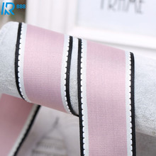Kewgarden 40mm 4cm Stripe Grosgrain Ribbon Handmade Tape DIY Bowknot Accessories Ribbed Ribbons  5 m/lot
