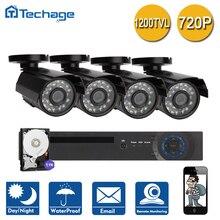 Techage 8CH/4CH 1080 P Выход HDMI DVR Система ВИДЕОНАБЛЮДЕНИЯ 4 ШТ. 1200TVL 720 P Открытый Водонепроницаемый Главная Безопасность камеры Наблюдения Комплект