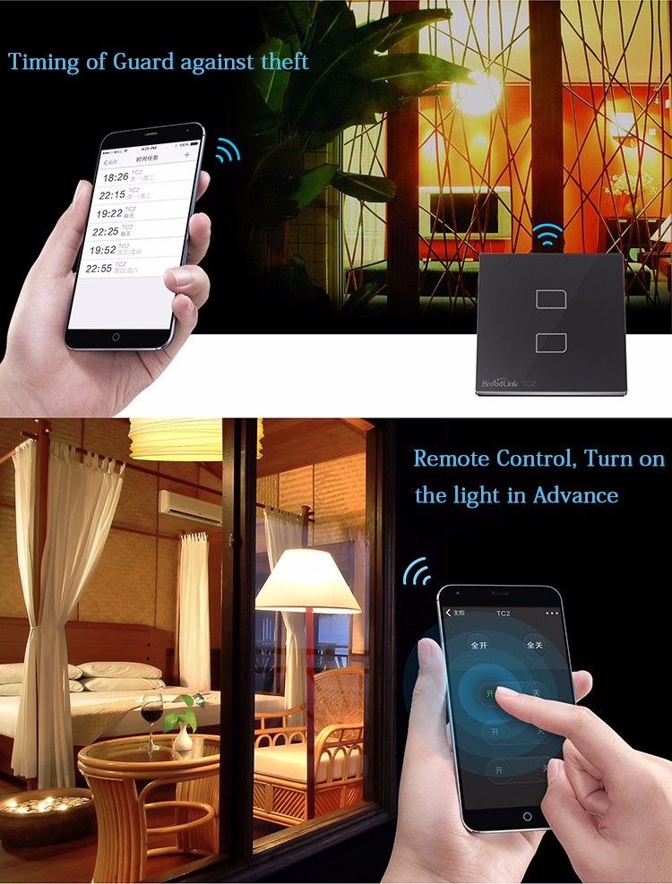 Smart Home Wall Light Switch, WiFi control from smart phone-5