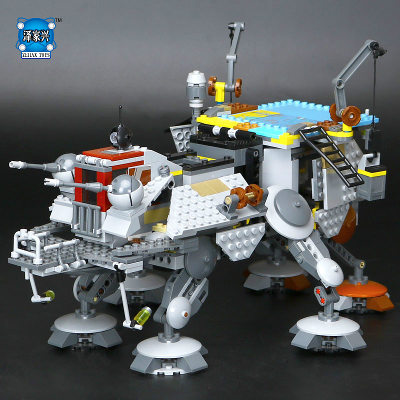 1022pcs Star LEPINE Wars Captain Rex's Model AT Toy TE Building Blocks Brick Figures Lovely Educational Gifts Toy with Gifts lepin 1022pcs star series wars captain rex s at te building blocks brick lepin 05032 boys toys gift compatible legoingly 75157