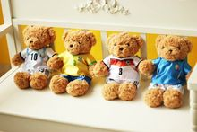 Toys Hobbies - Stuffed Animals  - 30cm Lovely  Football Star National Jersey Teddy Bear Plush Toy Gift For Fans