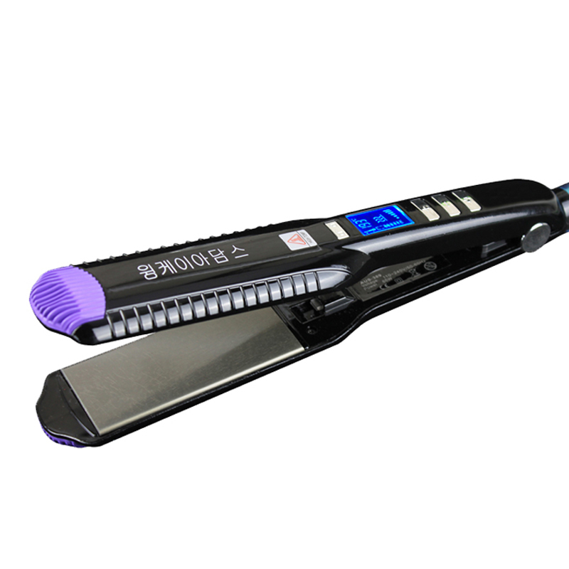 Professional Hair Straightener Wide Plates 1 5 Flat Iron Straightening Irons LCD Display Planchas Black Hair