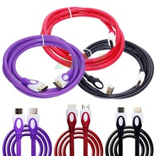 1pcs 1.5m copper core HD video cable for computer HDMI A/A OD 7.3 black/red/purple