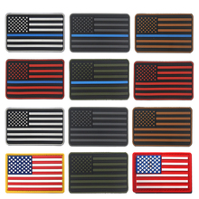 Tactical Police law enforcement Thin Blue Line USA SMilitary ARMY Flag navy seal team Patch PVC patch badge For Backpack jacket